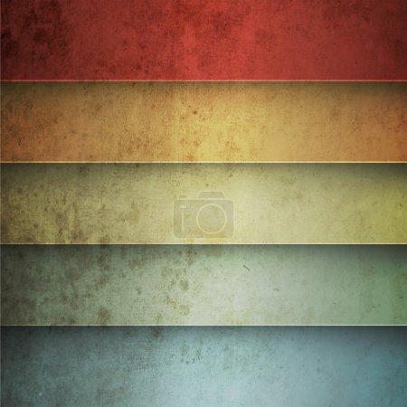 Photo pour Arc-en-ciel lignes horizontales fond vintage - image libre de droit