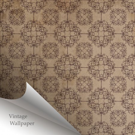 Photo for Vector wallpaper design with folded corner - Royalty Free Image