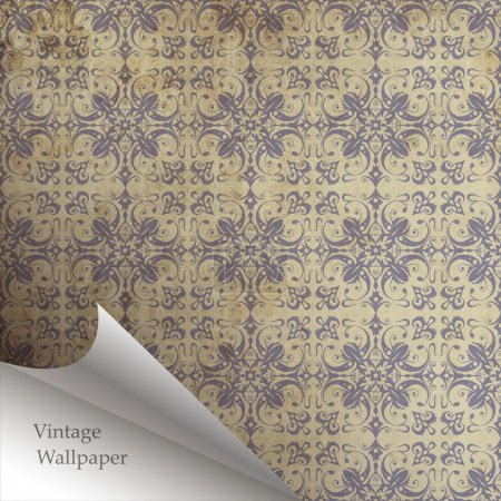 Vector wallpaper design with folded corner