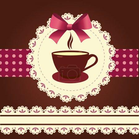 Tarjeta vectorial con taza de café