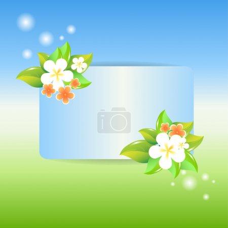 Foto de Tarjeta de felicitación con flores. Vector . - Imagen libre de derechos