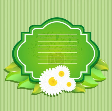 Photo for Greeting card with flowers. Vector. - Royalty Free Image