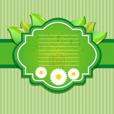 Illustration pour Carte de voeux avec des fleurs. Vecteur . - image libre de droit