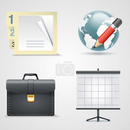 Illustration pour Ensemble vectoriel d'icônes bbusiness . - image libre de droit