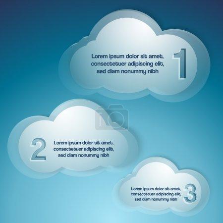 Fondo vectorial con nubes .