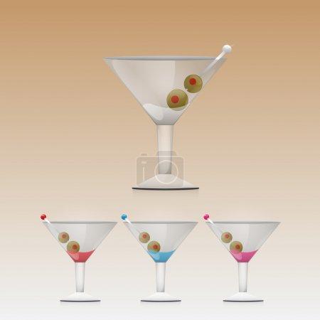 Illustration pour Martini Boisson en verre - image libre de droit