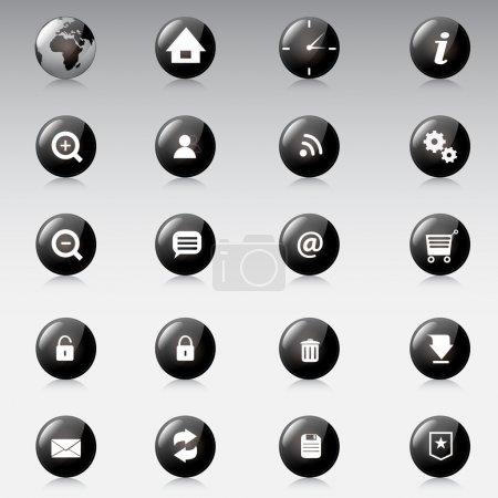 Web icons, vector design
