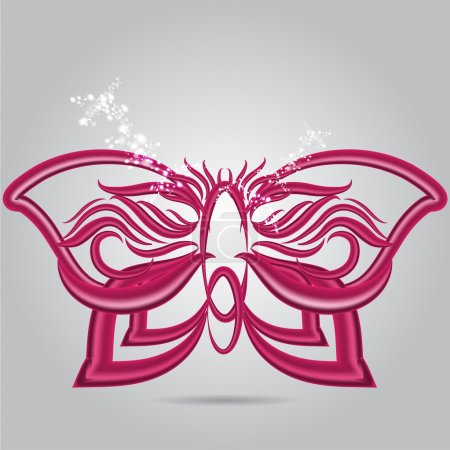 Photo for Purple Butterfly, vector design - Royalty Free Image