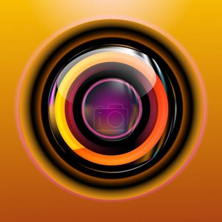 Illustration pour Cercle abstrait couverture icône - image libre de droit