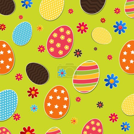 Illustration for Seamless pattern with easter eggs - Royalty Free Image