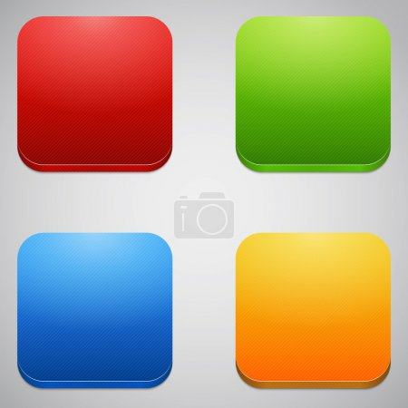 Glossy blank web internet button