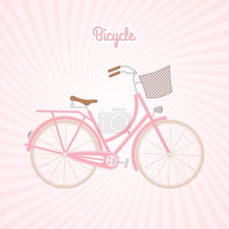 pink bicycle, vector design