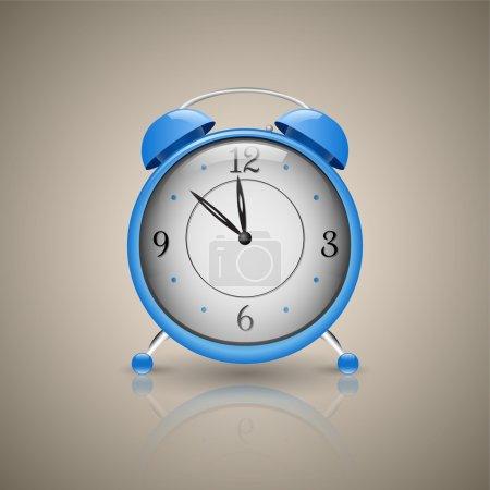 Alarm Clock. Classic alarm clock. Blue