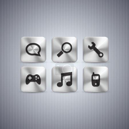 Illustration for Button set, vector design - Royalty Free Image