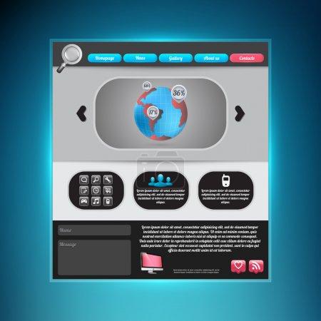 Illustration for Website Web Design Elements - Royalty Free Image