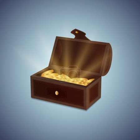 a chest of gold coins