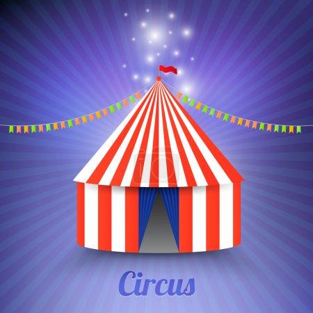 Illustration pour Chapiteau de cirque tente isolée - image libre de droit