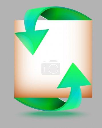 Illustration pour Bannières fléchées papier, conception vectorielle - image libre de droit