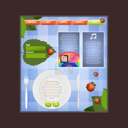 Illustration for Editable web template,vector - Royalty Free Image