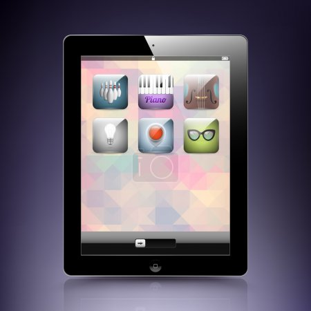 Tablet computer - mobile phone, vector.