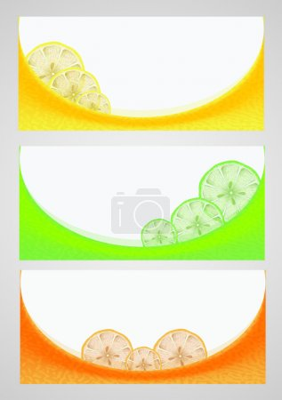 Citrus background, vector design
