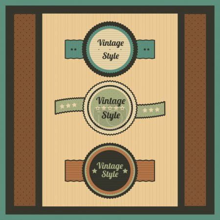 Illustration for Vector collection- vintage and retro labels - Royalty Free Image