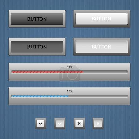 Modern color loading bars set