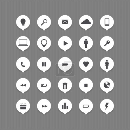 computer and internet web icons buttons set