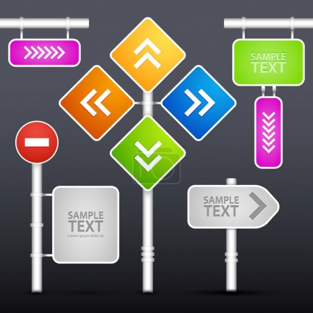 Illustration pour Panneaux de rue modifiables, design vectoriel - image libre de droit