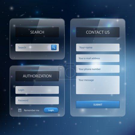 Photo pour Modèle de conception de site Web éléments de navigation avec icônes ensemble : Barres de menu de navigation - image libre de droit