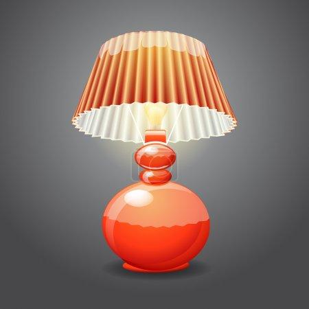 Illustration pour Illustration de lampe de table isolée - image libre de droit