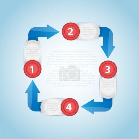 Illustration pour Modèle de bannière circulaire coloré pour différentes conceptions d'entreprise. Illustration vectorielle . - image libre de droit