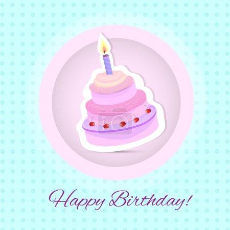 Illustration pour Carte vectorielle joyeux anniversaire. Gâteau d'anniversaire. Illustration vectorielle - image libre de droit