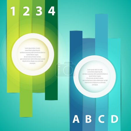 Illustration for Colorful presentations with letters and numbers - Royalty Free Image