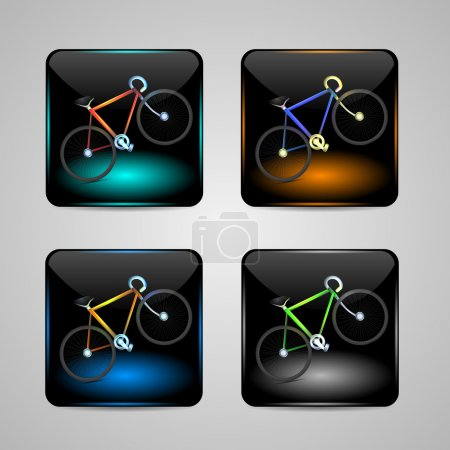 Illustration for Bicycle sign, Vector icon - Royalty Free Image