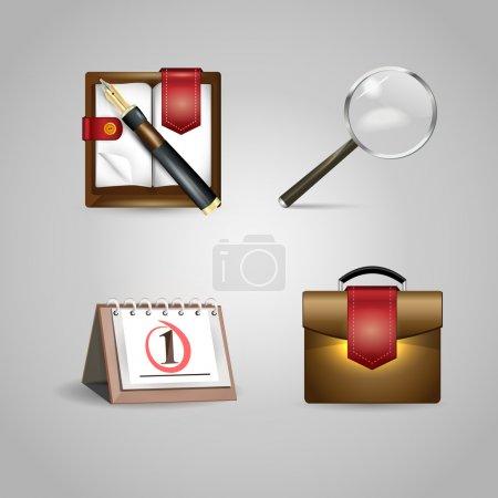 Foto de Diseño vectorial de objetos de oficina - Imagen libre de derechos