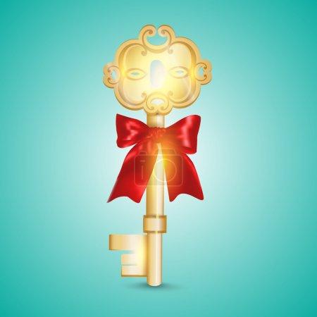 Illustration for Golden key vector illustration - Royalty Free Image