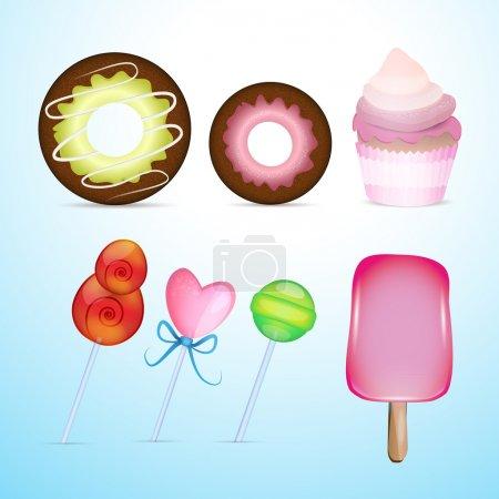 Illustration pour Illustration vectorielle du vecteur Bonbons - image libre de droit