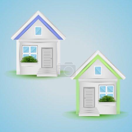 Ilustración vectorial de iconos de casa