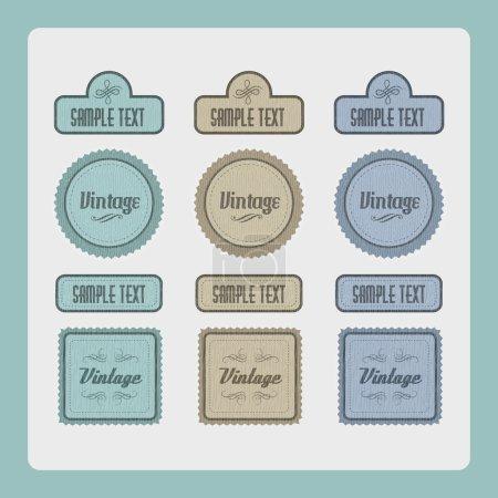 Illustration pour Ensemble vectoriel étiquettes vintage - image libre de droit