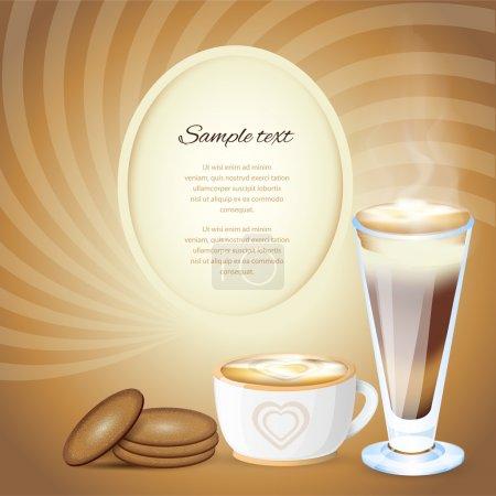 Illustration pour Modèle de conception de café. Illustration vectorielle. - image libre de droit