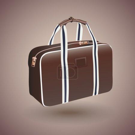 Illustration pour Valise de voyageur vectoriel marron - image libre de droit