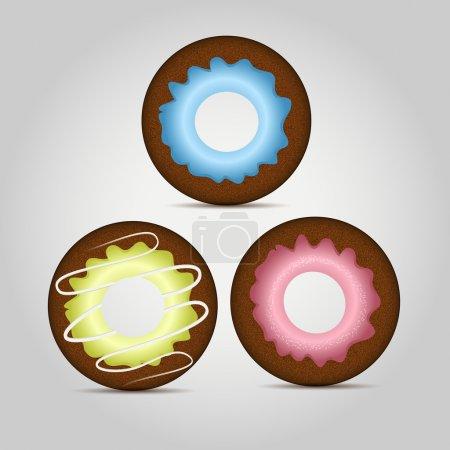 Illustration pour Des beignets colorés. Conception vectorielle - image libre de droit
