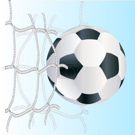 Vector football ball,  vector illustration