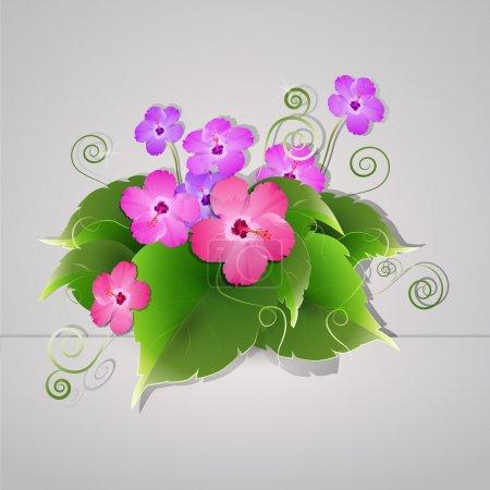 Fleurs vectorielles, illustration vectorielle