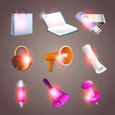 Office tools. Vector illustration