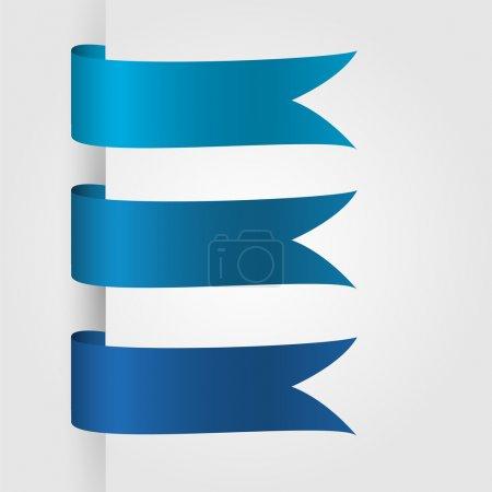 Vector set of ribbon icons