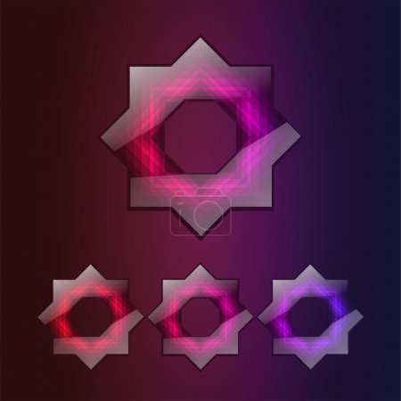 8 point star vector icons