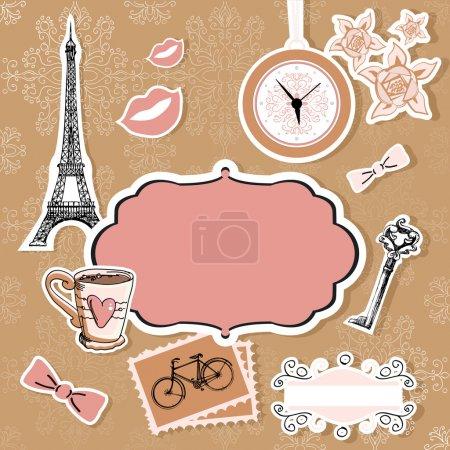Ensemble vectoriel de symboles de Paris