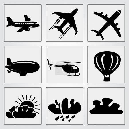 Travel icons set. Vector illustration